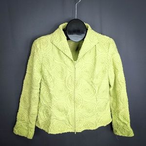 Samuel Dong Jacket Size Large Apple Green Womens